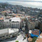 Vue du quartier Beyoğlu de la tour de Galata.