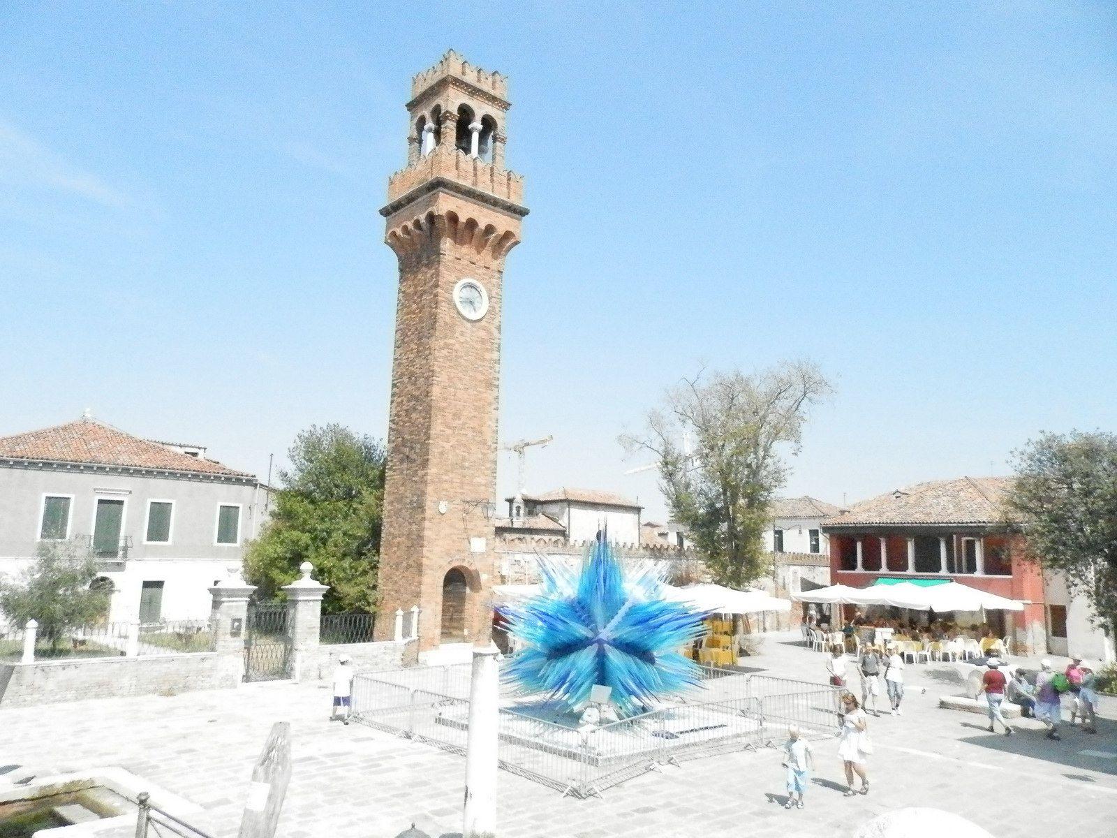 Place de l'horloge de Murano